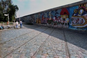 On the western side the wall was painted by several artists.